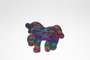 Bari Lynn flip sequin unicorn patch