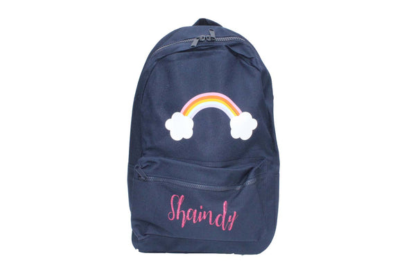 Personalized Rainbow Backpack | Midnight Blue