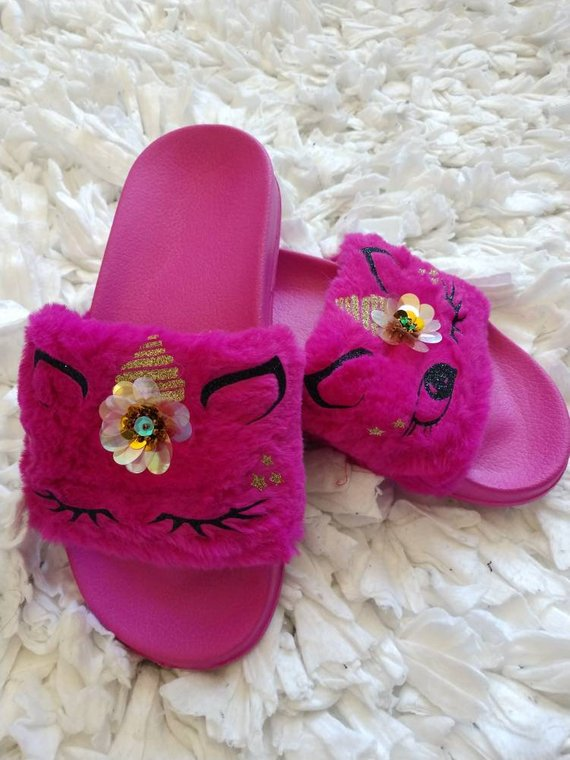 Little Girls Whimsical Slides | Party in Pink