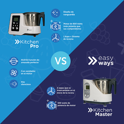 Diferencias Kitchen Pro y Kitchen Master