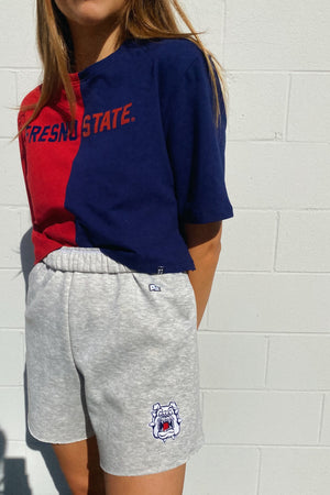 Load image into Gallery viewer, MTO Fresno State Cut Off Sweatshorts