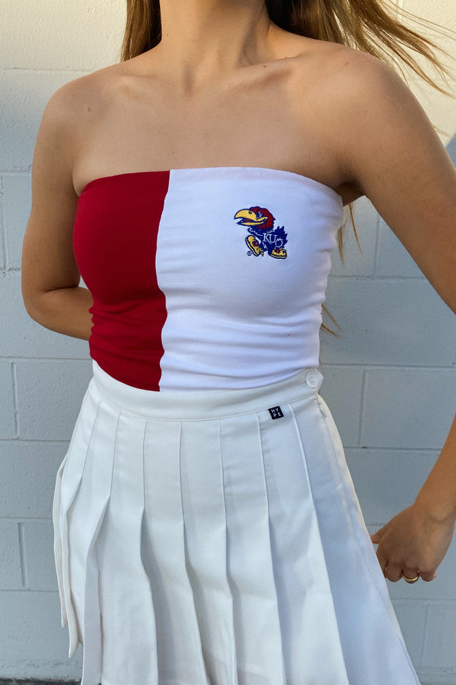 MTO University of Kansas Color Block Tube Top