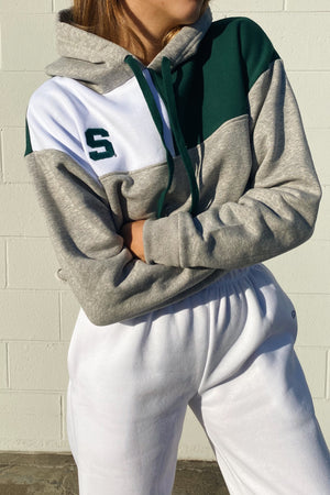 Load image into Gallery viewer, Michigan State Color-Block Hoodie