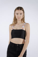 Arizona State Bandeau Top with Woven Straps - Hype and Vice