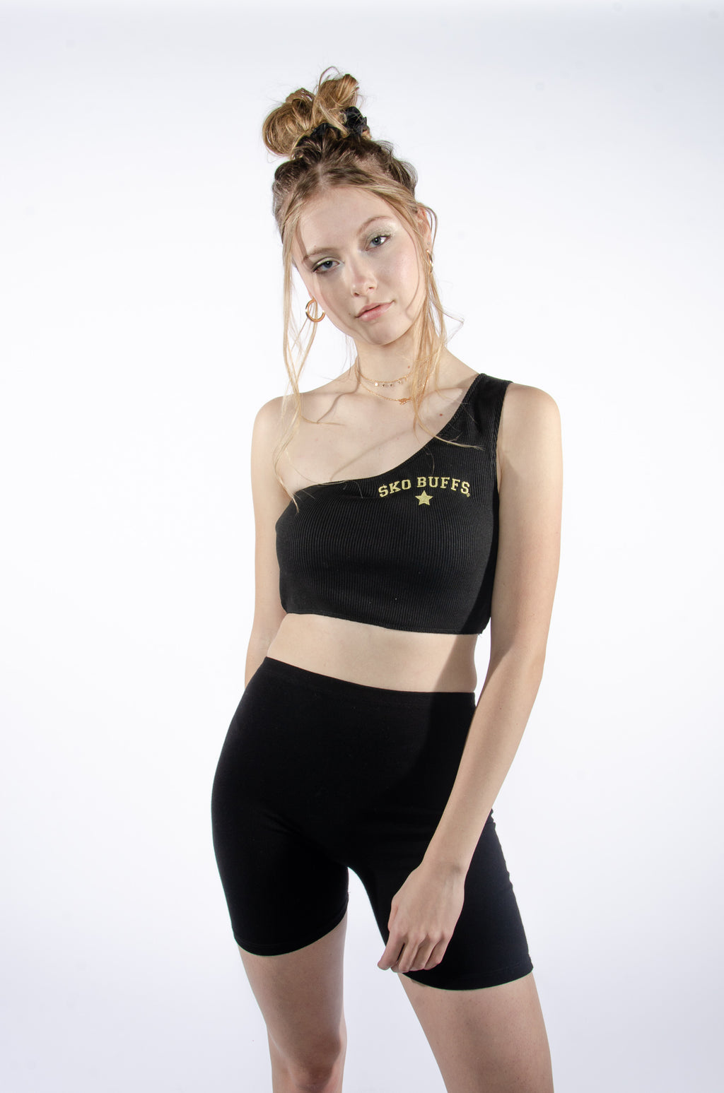 Sko-Buffs Ribbed One Shoulder Top