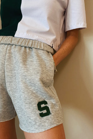 Load image into Gallery viewer, MTO Michigan State Cut Off Sweatshorts