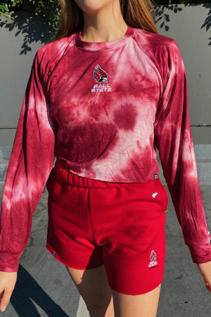 Load image into Gallery viewer, MTO Ball State Tie Dye Dreams Top