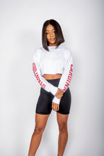 Stanford Cropped Long Sleeve Tee - Hype and Vice