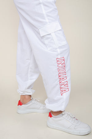 Load image into Gallery viewer, Indiana White Cargo Pants