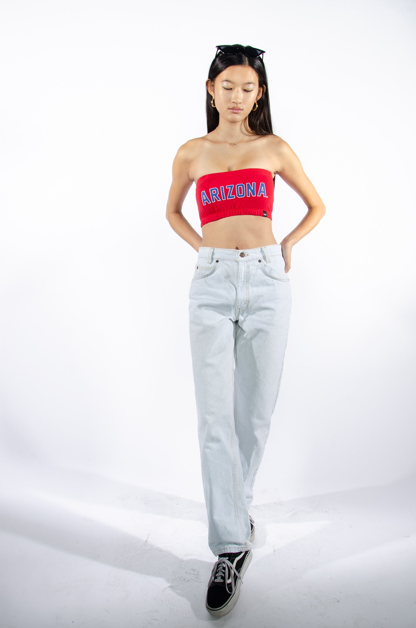 Arizona Red Bandeau Top - Hype and Vice