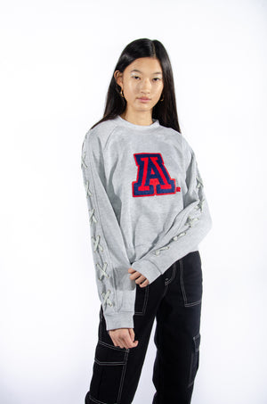 University of Arizona Laced-Up Sweatshirt - Hype and Vice