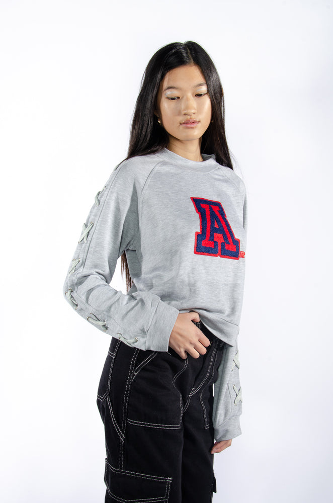 Load image into Gallery viewer, University of Arizona Laced-Up Sweatshirt - Hype and Vice