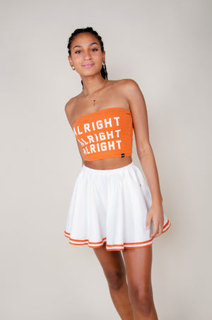 Load image into Gallery viewer, Burnt Orange and White Vintage Skirt