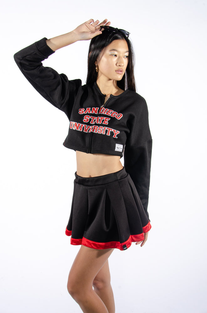 San Diego State University Cropped Zip-Up - Hype and Vice
