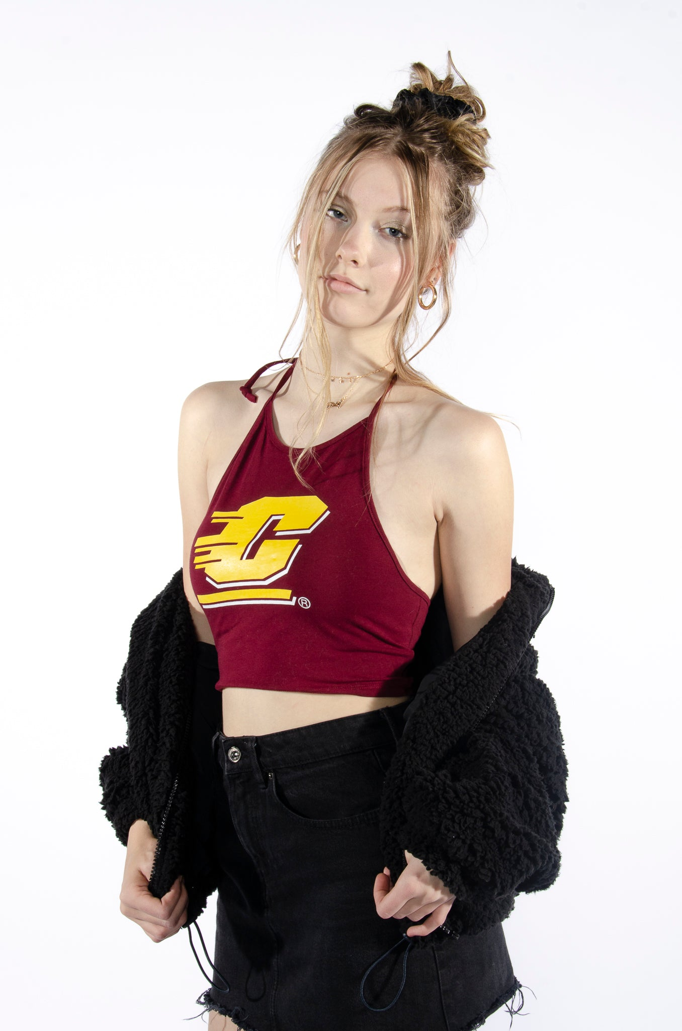 Central Michigan Halter Top - Hype and Vice