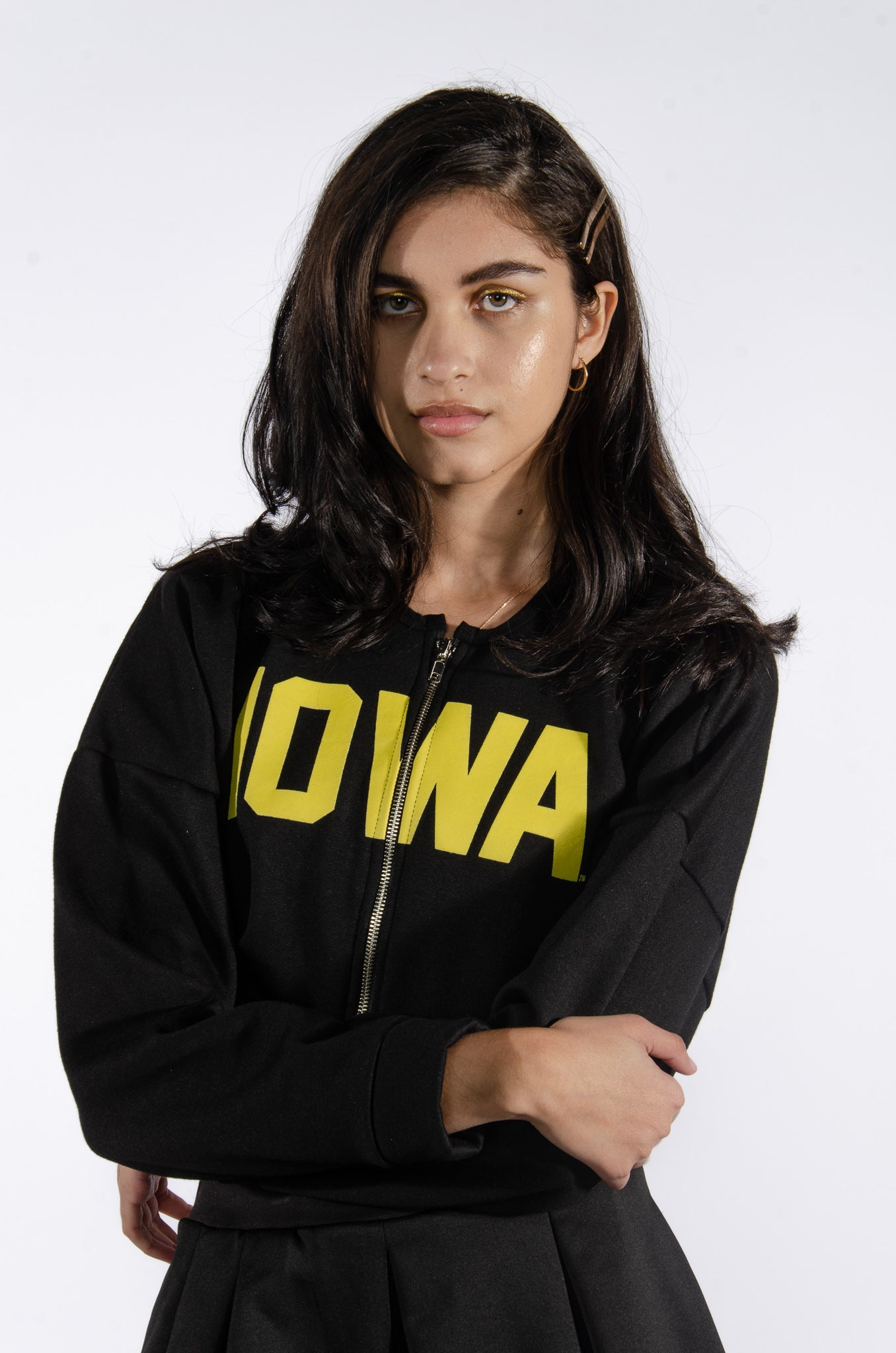 Iowa Cropped Zip-Up - Hype and Vice