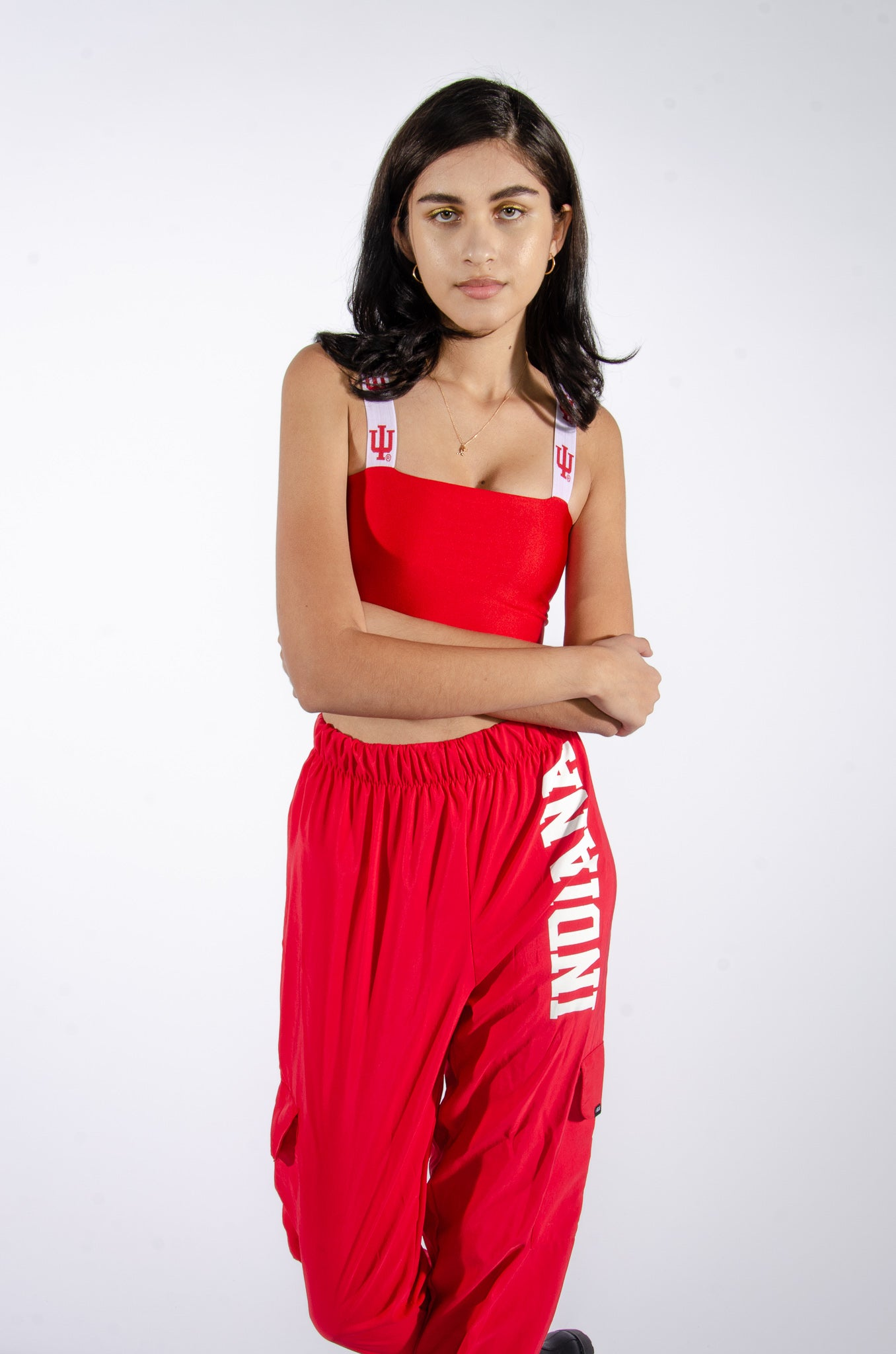 IU Hoosiers Bandeau Top with Woven Straps - Hype and Vice