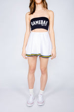 Navy and Gold Vintage Skirt - Hype and Vice