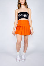 Burnt Orange Tennis Skirt - Hype and Vice