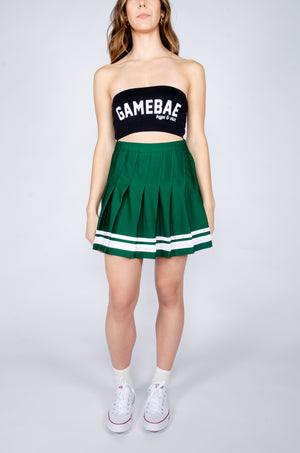 Load image into Gallery viewer, Green and White Tennis Skirt - Hype and Vice