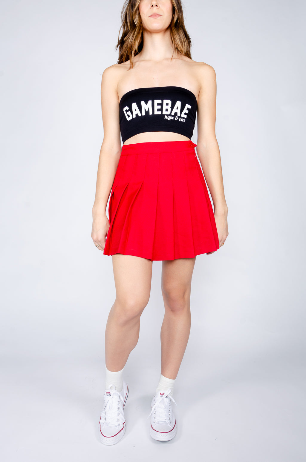 Red Tennis Skirt - Hype and Vice