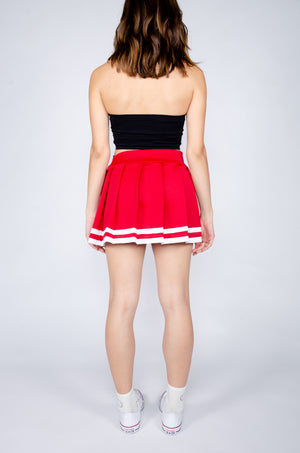Red and White Cheerleader Skirt - Hype and Vice