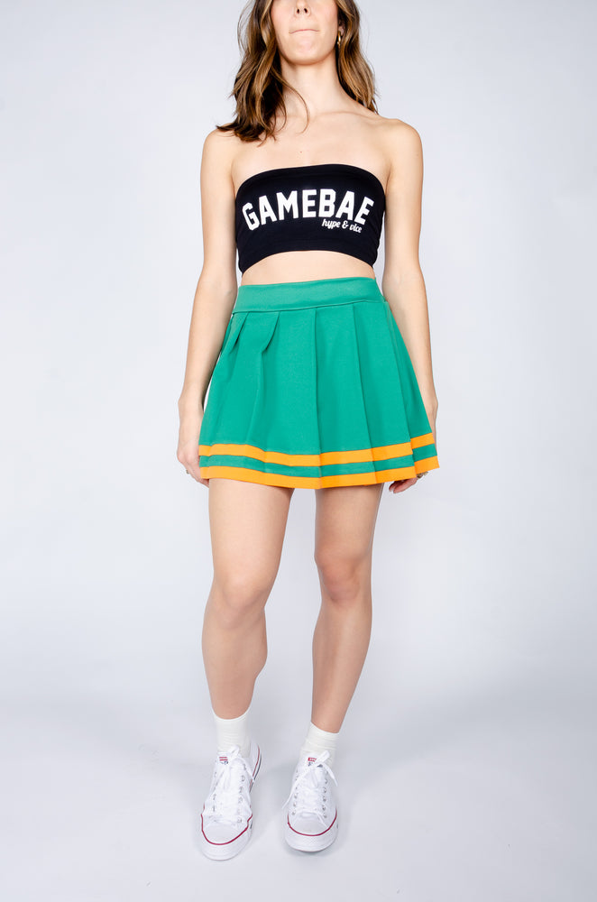 Green and Orange Cheerleader Skirt - Hype and Vice