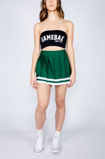 Green and White Cheerleader Skirt - Hype and Vice