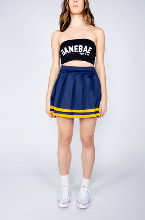 Navy and Gold Cheerleader Skirt - Hype and Vice