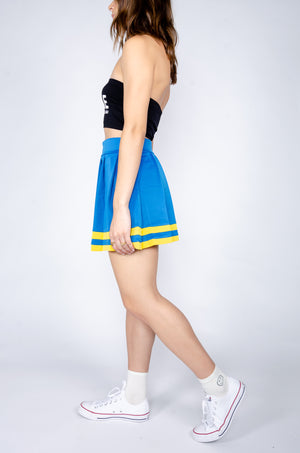 Blue and Yellow Cheerleader Skirt - Hype and Vice
