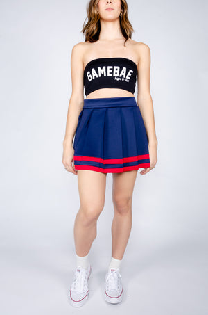 Load image into Gallery viewer, Navy and Red Cheerleader Skirt - Hype and Vice