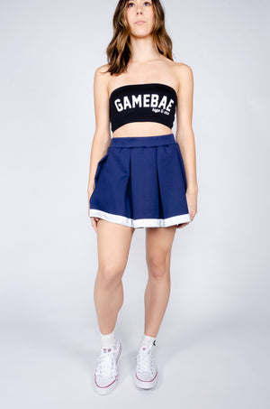 Load image into Gallery viewer, Navy and White Tailgate Skirt - Hype and Vice