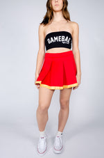 Red and Gold Tailgate Skirt - Hype and Vice