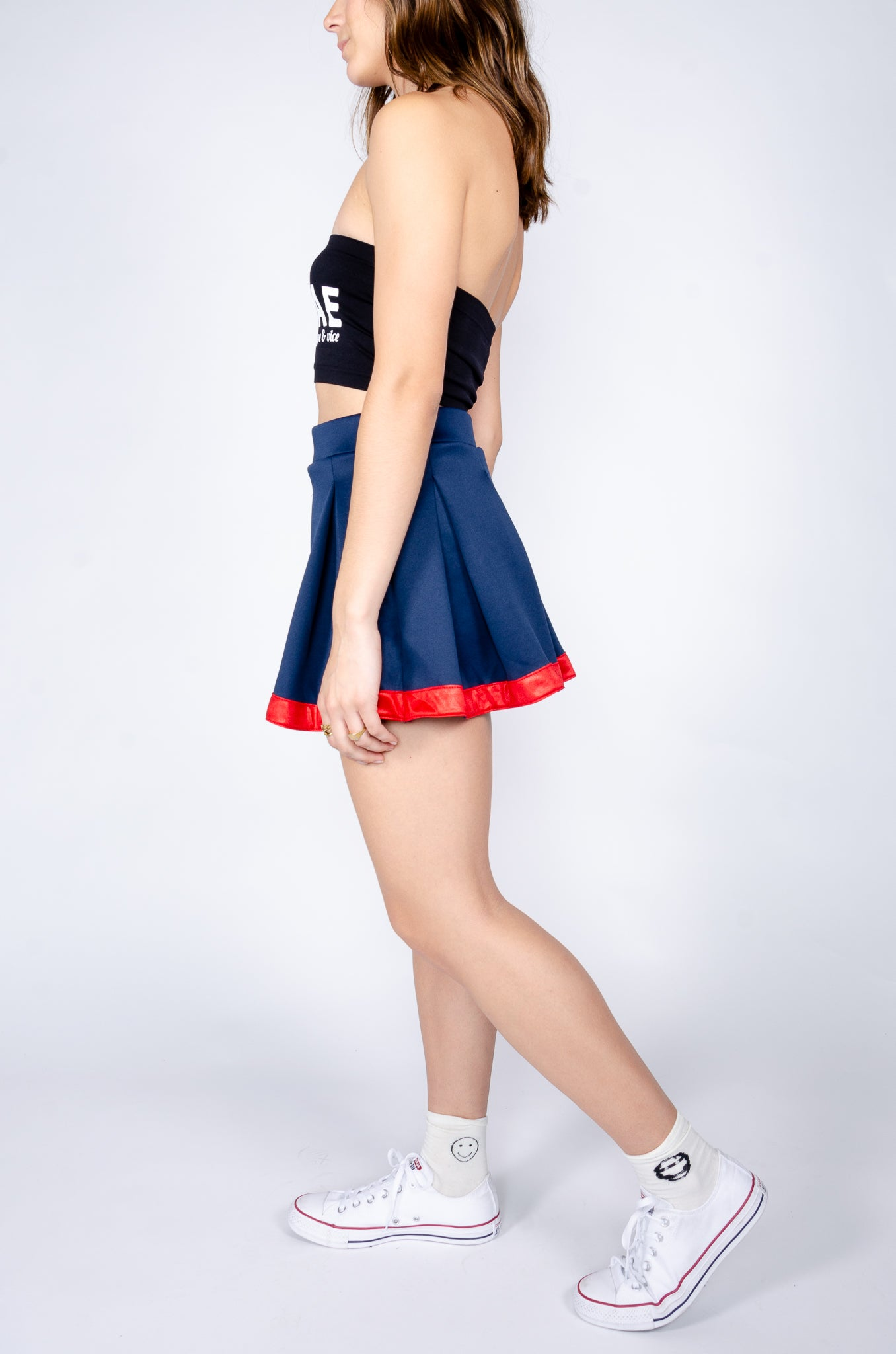 Navy and Red Tailgate Skirt - Hype and Vice