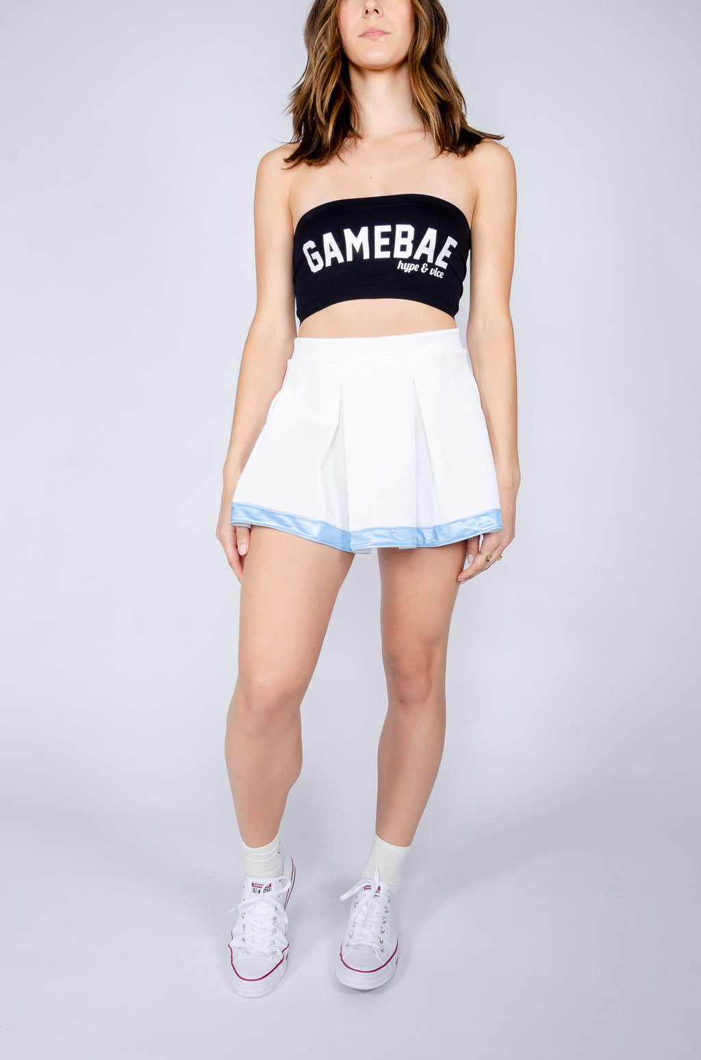 White and Blue Tailgate Skirt - Hype and Vice