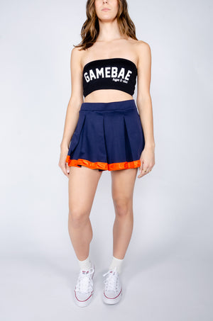 Load image into Gallery viewer, Navy and Orange Tailgate Skirt - Hype and Vice