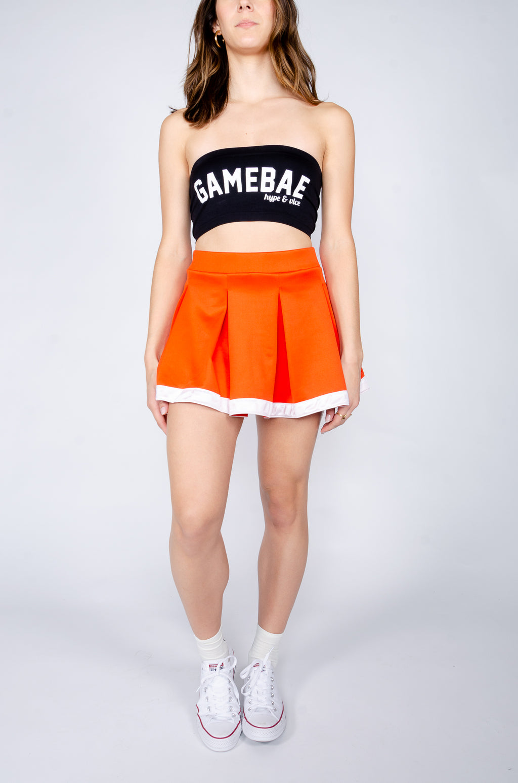 Orange and White Tailgate Skirt - Hype and Vice