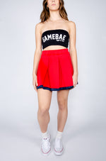 Red and Navy Tailgate Skirt - Hype and Vice