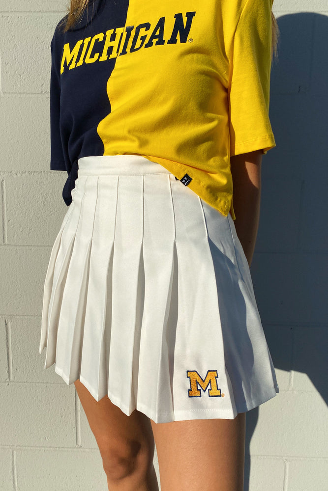 Load image into Gallery viewer, MTO University of Michigan Tennis Skirt