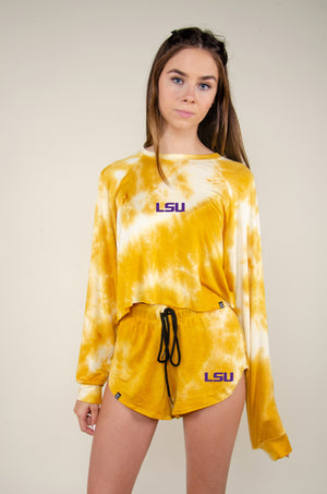 MTO LSU Tie Dye Dreams Shorts
