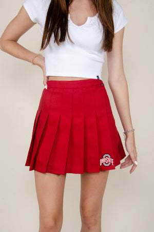 Load image into Gallery viewer, MTO Ohio State Tennis Skirt