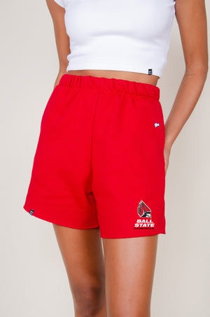 Load image into Gallery viewer, MTO Ball State Cut Off Sweatshorts