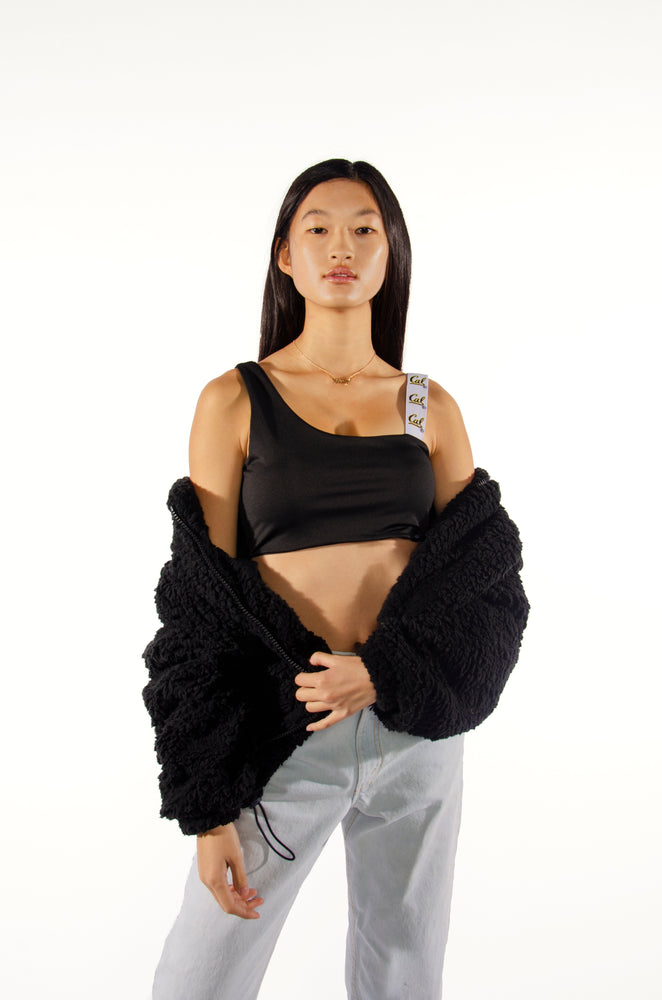 Load image into Gallery viewer, Cal One Shoulder Crop Top with Woven Straps - Hype and Vice