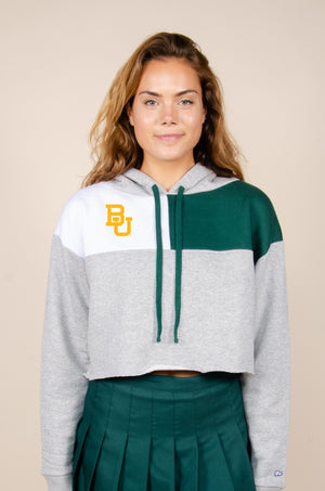 Load image into Gallery viewer, Baylor Color-Block Hoodie - Hype and Vice