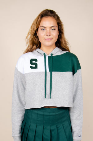 Michigan State Color-Block Hoodie - Hype and Vice