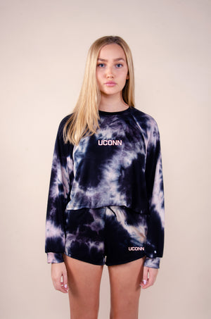 Load image into Gallery viewer, MTO U Conn Tie Dye Dreams Top
