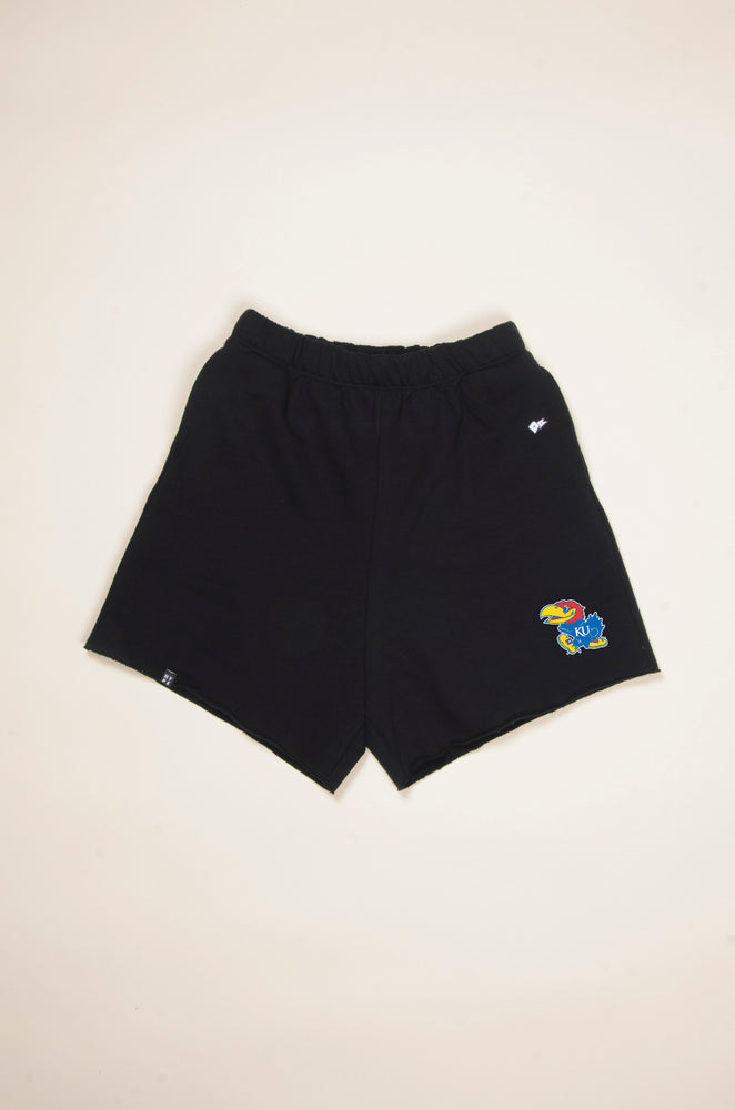 Load image into Gallery viewer, MTO University of Kansas Cut Off Sweatshorts