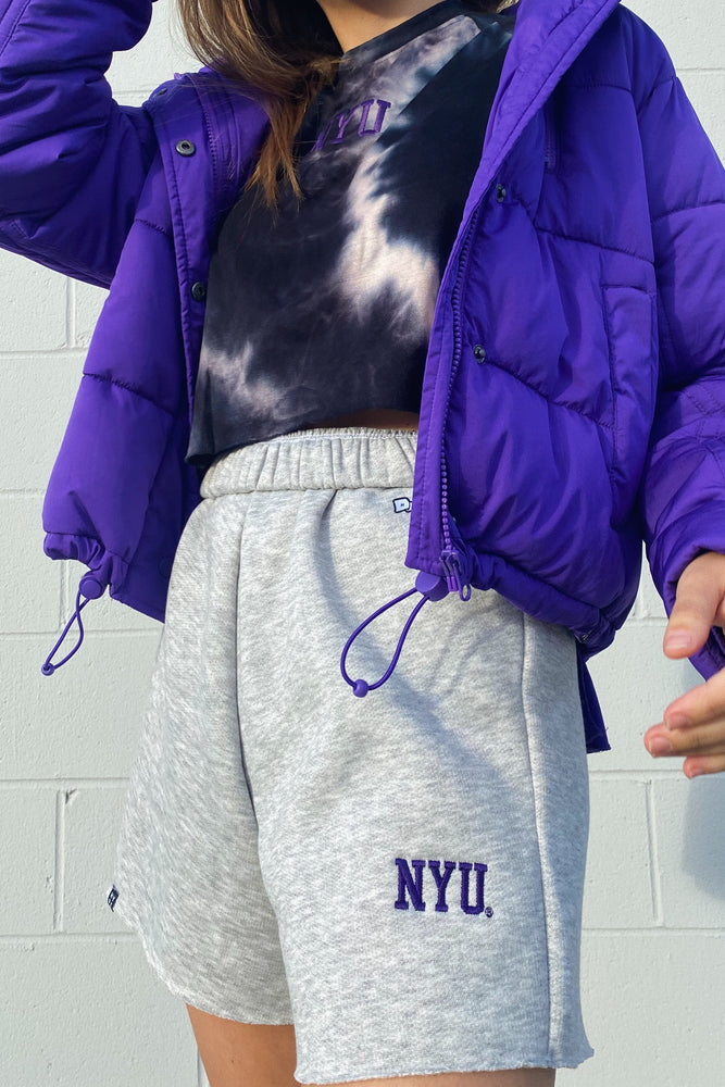 Load image into Gallery viewer, MTO NYU Cut Off Sweatshorts