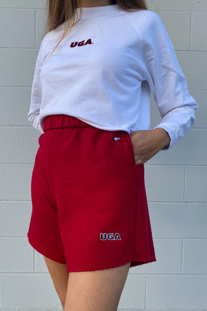 Load image into Gallery viewer, MTO University of Georgia Cut Off Sweatshorts