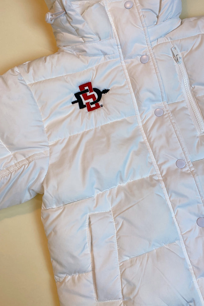 Load image into Gallery viewer, SDSU Puffer Jacket